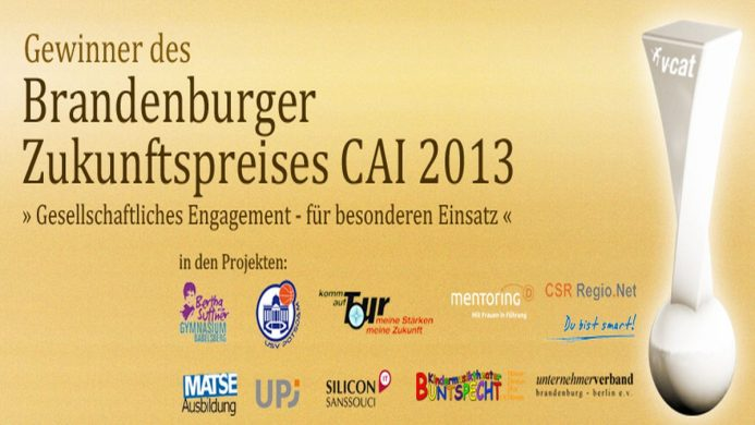 VCAT Consulting gewinnt Brandenburger Zukunftspreis CAI 2013