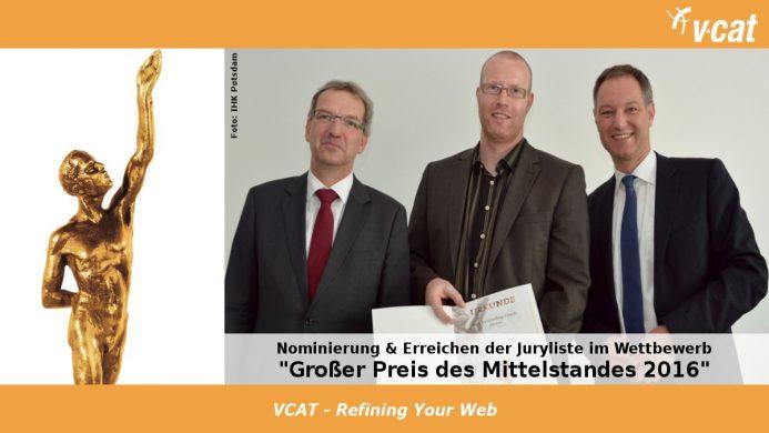 VCAT für den Großen Preis des Mittelstandes nominiert
