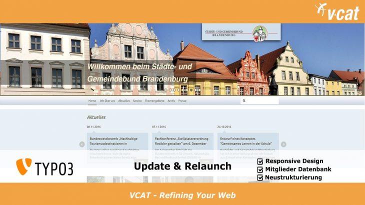 TYPO3 Update Städte- und Gemeindebund Brandenburg