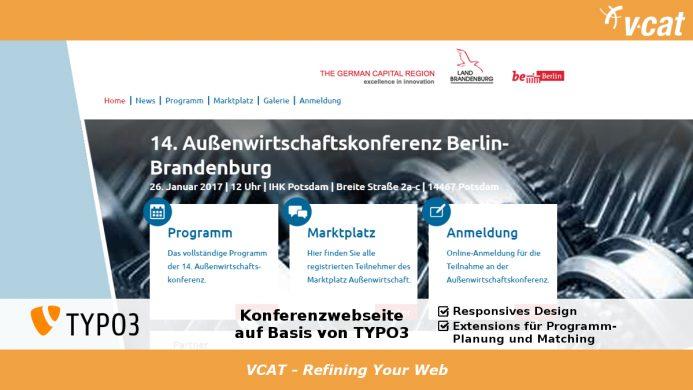 TYPO3-basierte Konferenzhomepage im Responsive Design erstellt