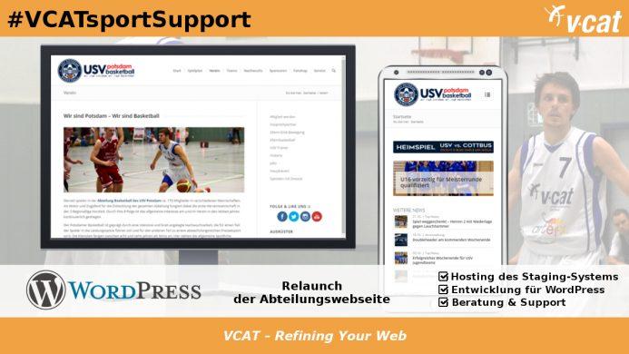 USV-Basketballer mit neuer WordPress-Homepage