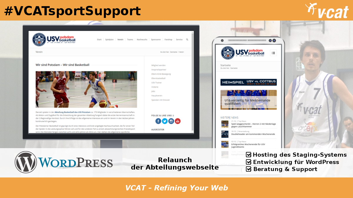 Website-Relaunch für die USV-Basketballer