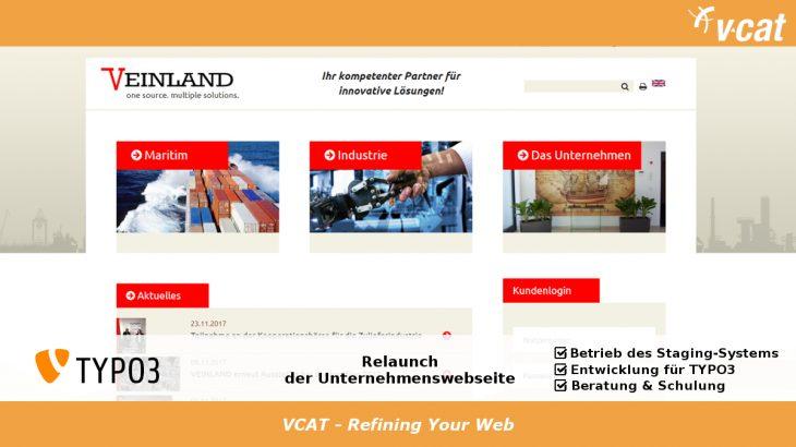 Relaunch für TYPO3-Webseite von VEINLAND in 2017