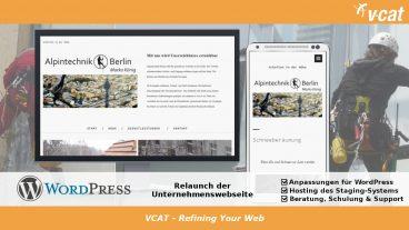 Neue Homepage mit WordPress für Arbeiten in der Höhe