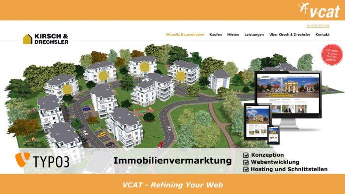 Immobilien auf TYPO3-Homepage visualisiert
