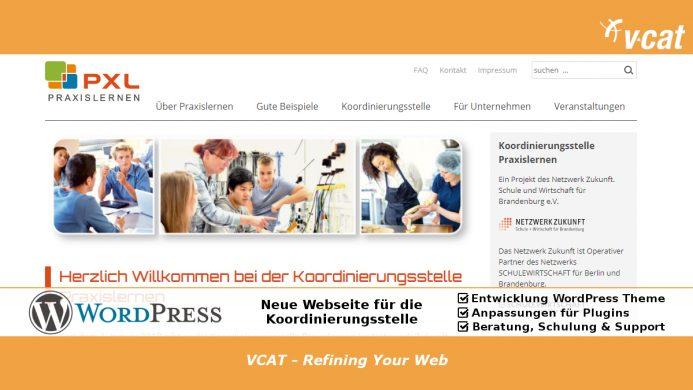 WordPress-Website für Praxislernen.de entwickelt