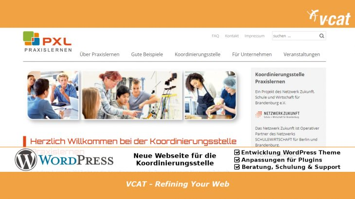 WordPress Webseite Praxislernen.de