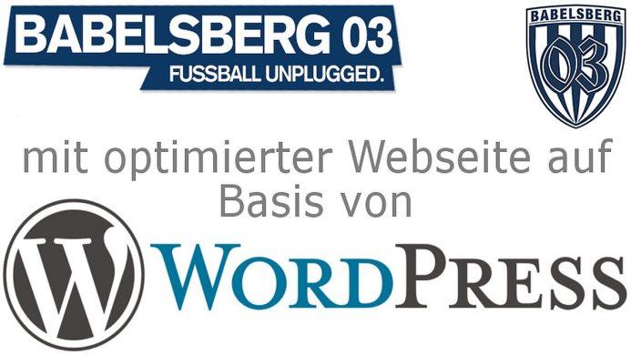 SV Babelsberg lässt WordPress-Homepage von VCAT optimieren