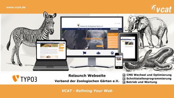TYPO3 Relaunch Verband der Zoologischen Gärten e.V. Berlin