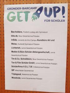 Gründer-Barcamp für Schüler - Liste der Schülerfirmen