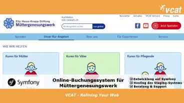 Symfony Online-Buchungssystem für das Müttergenesungswerk