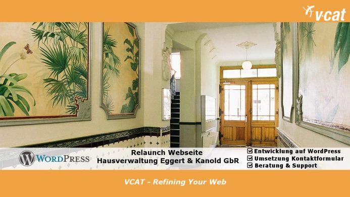 Hausverwaltung mit neuer WordPress-Seite