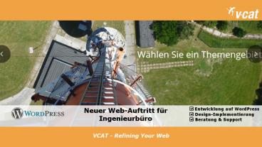 VCAT entwickelt WordPress-Webseite für Ingenieurbüro