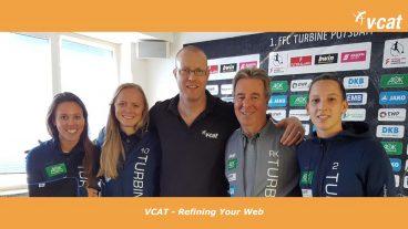 VCAT und der 1. FFC Turbine Potsdam verlängern Sponsoring