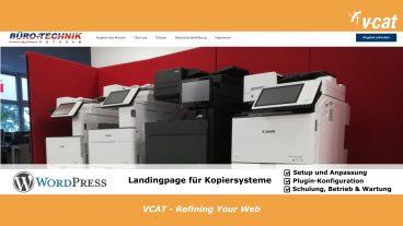 Neue Landingpage für Kopiersysteme