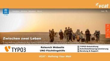 UNO-Flüchtlingshilfe mit neuem TYPO3-Webauftritt