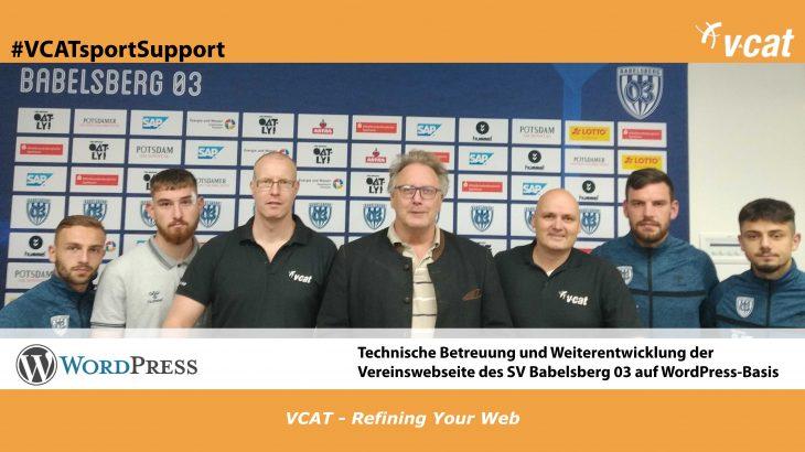 VCATsportSupport - Sponsoringverlängerung SV Babelsberg 03