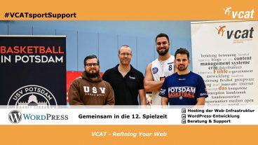 VCAT weiterhin Web-Partner der Basketballer des USV Potsdam