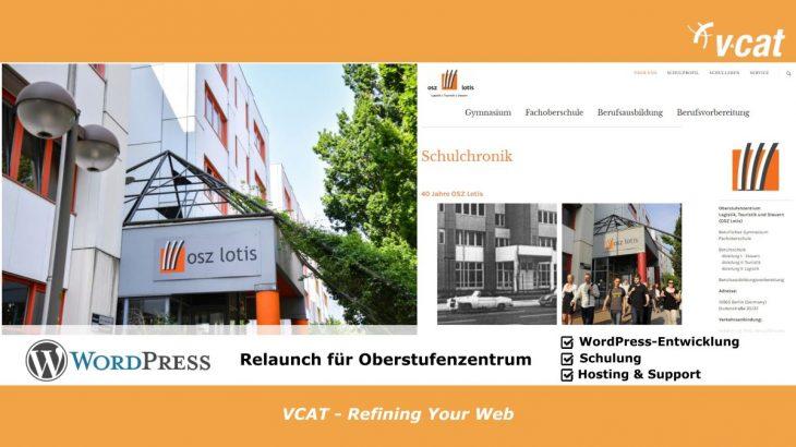 WordPress Relaunch OSZ Lotis Berlin