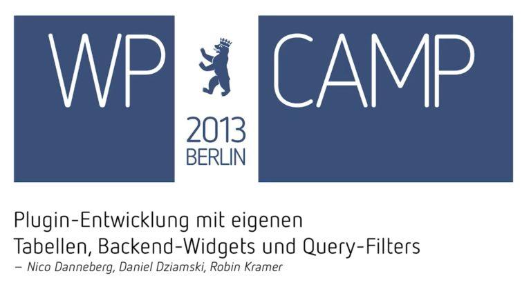 beim WP Camp 2013 Berlin