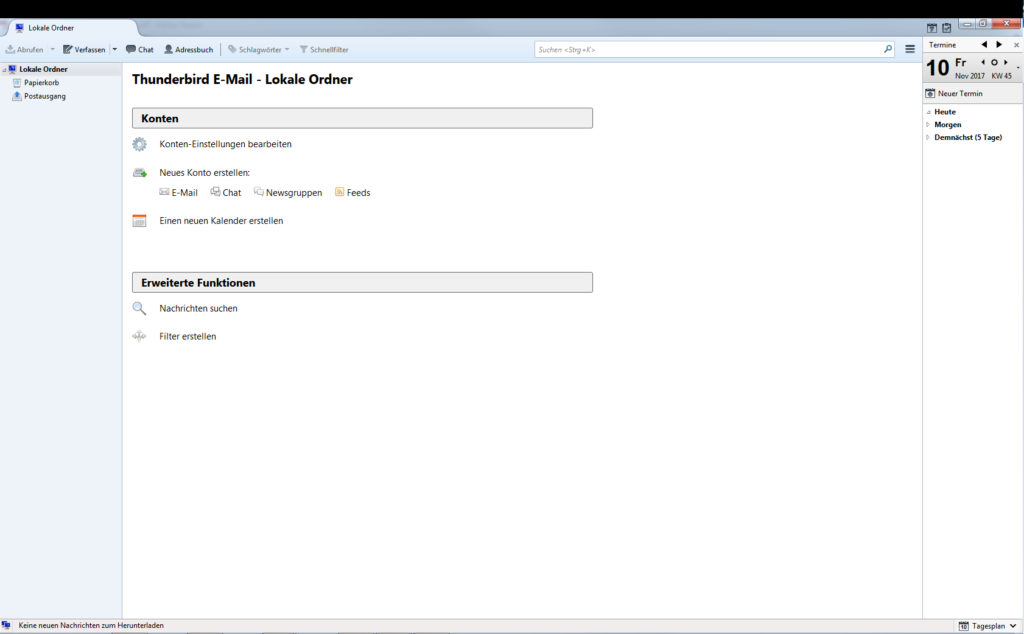 E-Mail-Konto einrichten - Thunderbird - Schritt 1